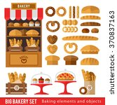 set of bread products  bakery... | Shutterstock .eps vector #370837163