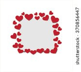 vector heart  background  happy ... | Shutterstock .eps vector #370856447