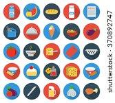 Food Icons Set. Food Icons Fla...