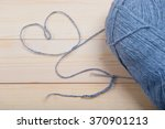 heart of knitting yarn ... | Shutterstock . vector #370901213
