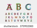 color alphabetic fonts. vector... | Shutterstock .eps vector #370902083
