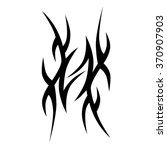 tattoo. stencil. pattern.... | Shutterstock .eps vector #370907903
