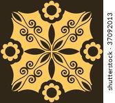 floral ornament  vector... | Shutterstock .eps vector #37092013