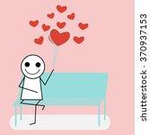 the man  waiting for love ... | Shutterstock .eps vector #370937153