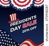 presidents day sale background... | Shutterstock .eps vector #370938287