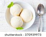 Vanilla Ice Cream With Mint In...