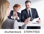job applicant back view and two ... | Shutterstock . vector #370947503