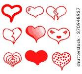 set of vector hearts | Shutterstock .eps vector #370948937
