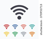 wifi sign. wi fi symbol.... | Shutterstock .eps vector #370953713