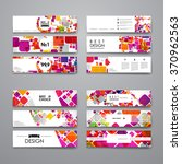 set of modern design banner... | Shutterstock .eps vector #370962563