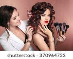 Curly Hair. Beauty Makeup....