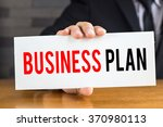 business plan  message on white ... | Shutterstock . vector #370980113