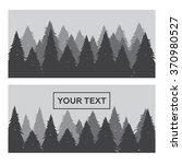 pine forest horizontal banner... | Shutterstock . vector #370980527