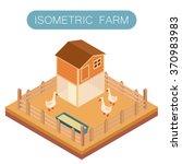 isometric farm house for goose | Shutterstock .eps vector #370983983