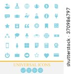 36 universal icons for web and... | Shutterstock .eps vector #370986797