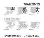 modern line logo triathlon.... | Shutterstock .eps vector #371005163