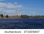 Small photo of View of the Admiralty / View of the Admiralty Neva river in summer