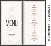 restaurant menu design. vector... | Shutterstock .eps vector #371008253