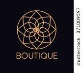 elegant flower logo design.... | Shutterstock .eps vector #371009597