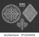 vector tribal elements  ethnic... | Shutterstock .eps vector #371010443