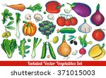 a huge big super collection or... | Shutterstock .eps vector #371015003