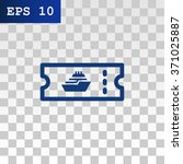 the cruise ship tickets icon | Shutterstock .eps vector #371025887