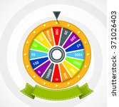 poster with wheel with curved... | Shutterstock .eps vector #371026403