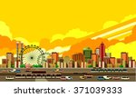 vector illustration big city... | Shutterstock .eps vector #371039333
