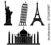 world landmarks statue of...   Shutterstock .eps vector #371042987