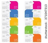 infographic set illustration in ... | Shutterstock .eps vector #371047313