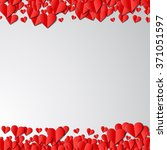 valentines day card with... | Shutterstock .eps vector #371051597