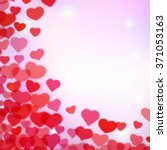 valentines day background with... | Shutterstock .eps vector #371053163