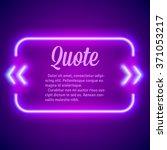 retro hipster neon glowing...   Shutterstock .eps vector #371053217