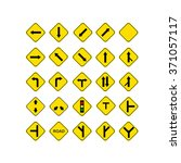 sign road yellow | Shutterstock .eps vector #371057117