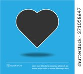 heart shape vector icon eps 10. ... | Shutterstock .eps vector #371058647