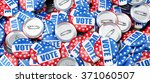 vote election badge button for... | Shutterstock . vector #371060507