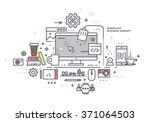 flat style modern design... | Shutterstock .eps vector #371064503