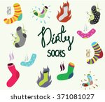 a lot of dirty  smelly  funny... | Shutterstock .eps vector #371081027