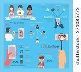 infographics vector... | Shutterstock .eps vector #371085773