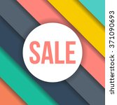 sale sign on material design...