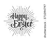 happy easter greeting card.... | Shutterstock .eps vector #371094797