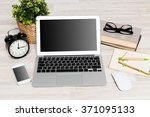 comfortable working place | Shutterstock . vector #371095133