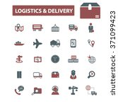 logistics  delivery  shipping ... | Shutterstock .eps vector #371099423
