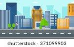 background of modern city.   Shutterstock .eps vector #371099903