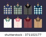 shirt fashion on hangers vector ... | Shutterstock .eps vector #371102177