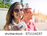 having weekend in summer park | Shutterstock . vector #371114237