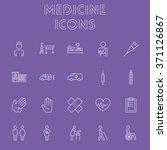 medicine icon set. | Shutterstock .eps vector #371126867