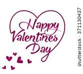 happy valentine february 14... | Shutterstock .eps vector #371130437