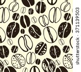 coffee bean pattern | Shutterstock .eps vector #371139503