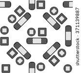 bandage plaster icon seamless... | Shutterstock .eps vector #371139887